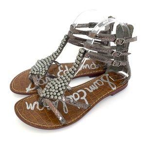 Sam Edelman Ginger Gladiator Beaded Sandals